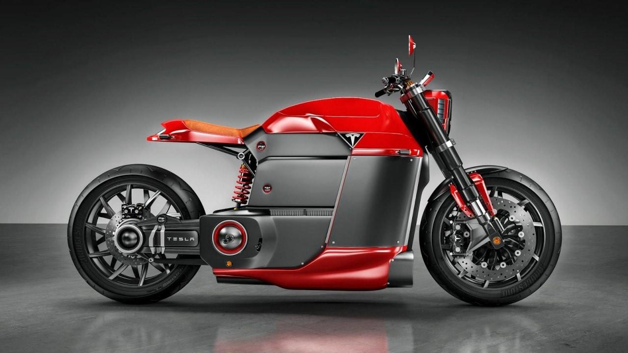 Tesla Model M: il concept di una moto elettrica del produttore americano (foto)