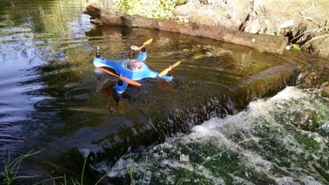acquadrone drone da pesca