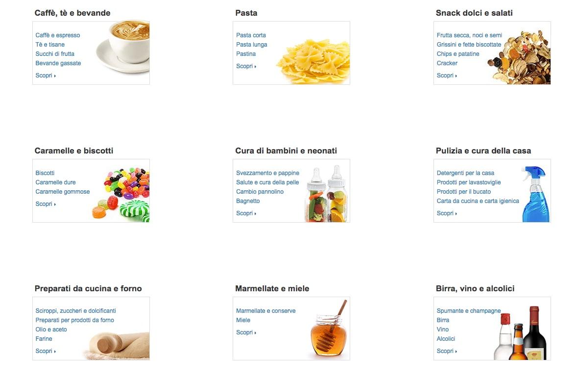Amazon vi porta la spesa a casa: alimenti e cura della casa nel nuovo shop