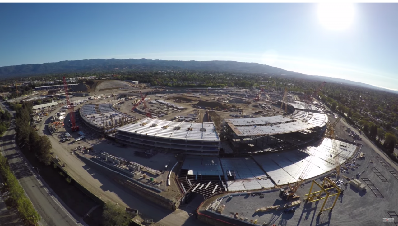 apple campus 2 in 4k