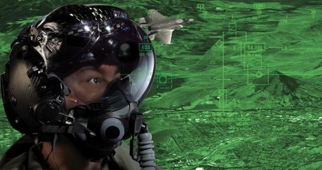 casco pilota f35