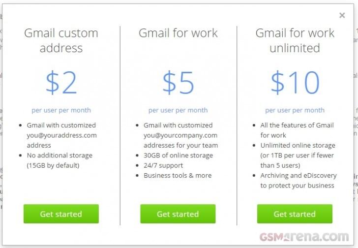 gmail indirizzo a pagamento