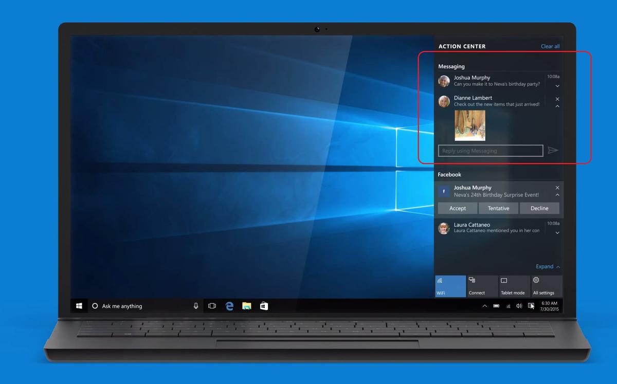 La messaggistica di Windows 10 potrebbe arrivare entro l'estate