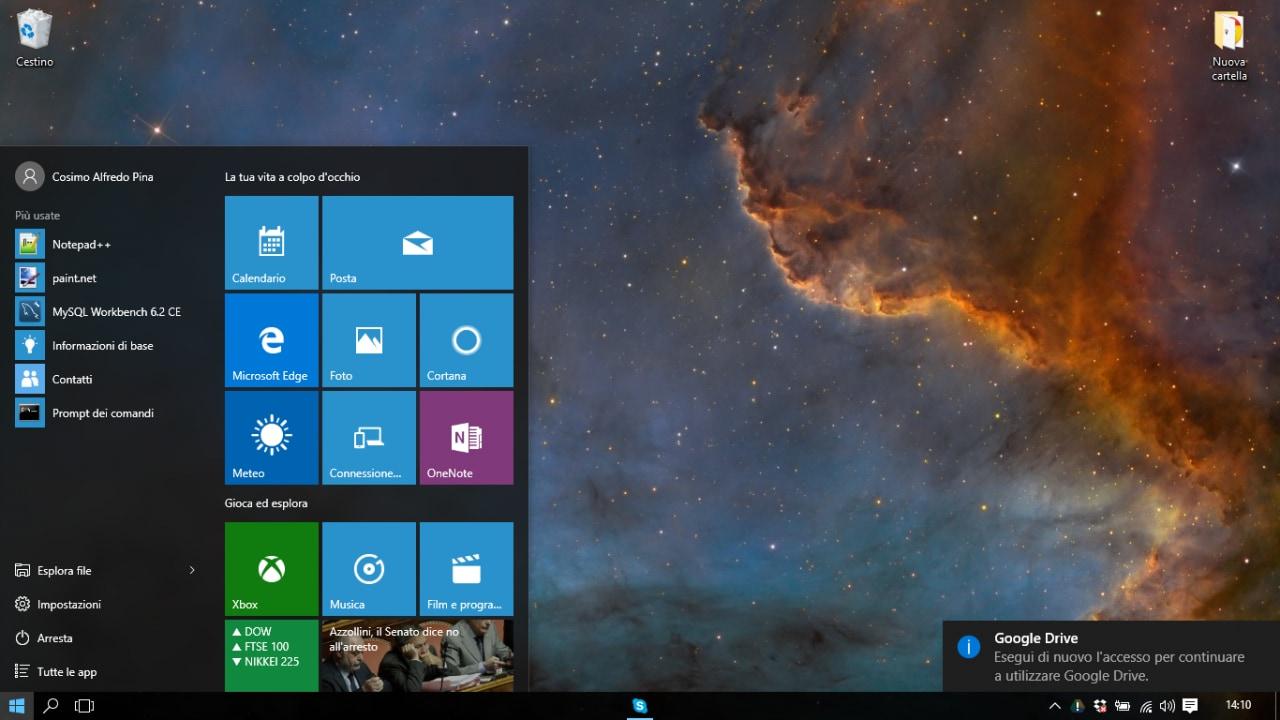 prova windows 10_desktop e menu start_ 2