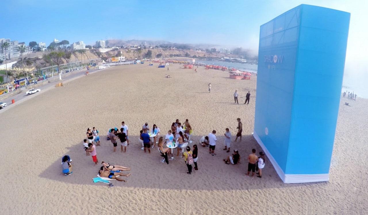 spiaggia ombra wi-fi