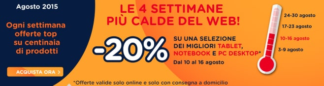 4 settimane più calde tablet notebook pc desktop
