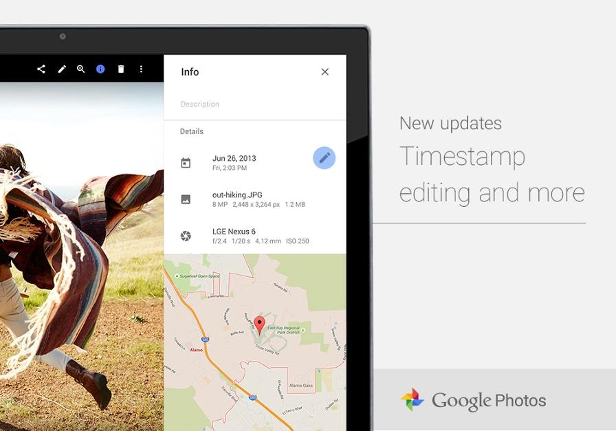 Data Google Foto LG Nexus 6