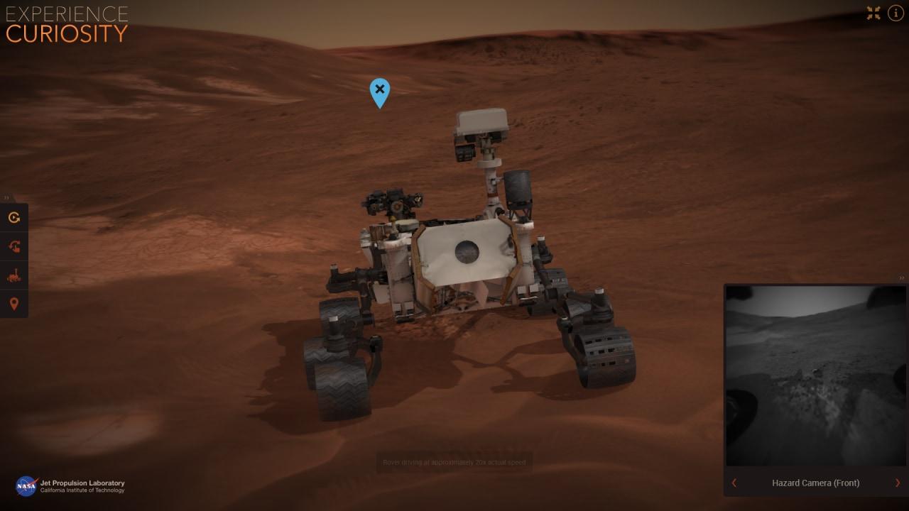 Guidate il rover Curiosity nella sua passeggiata su Marte, grazie al tool creato dalla NASA (foto)