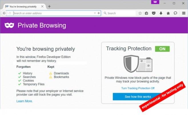 Firefox modalità privata