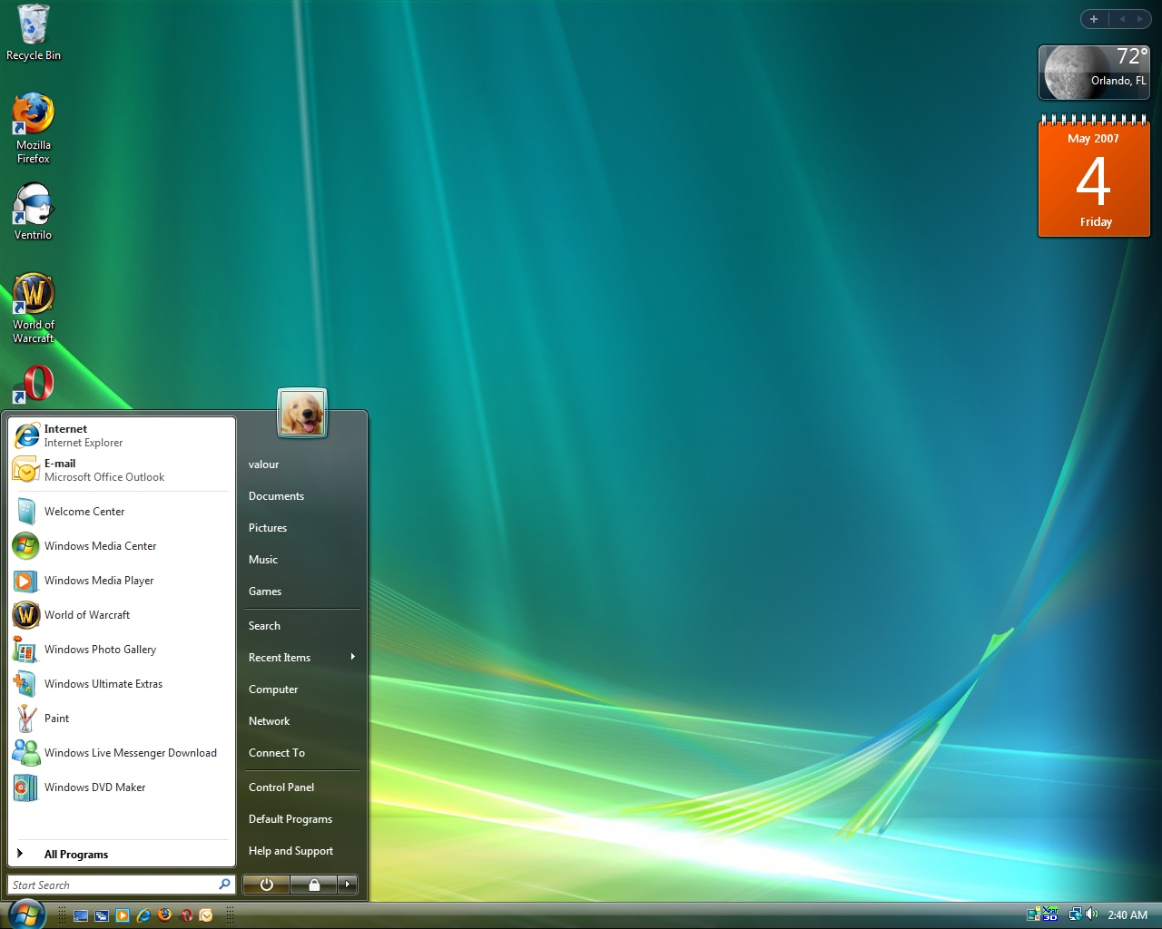 Windows vista storia in una GIF