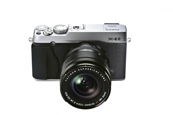 X-E2_Silver_Front_High_angle_18-55mm