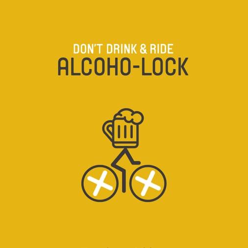 Il lucchetto per bici con etilometro incorporato: Alcoho-Lock (video)