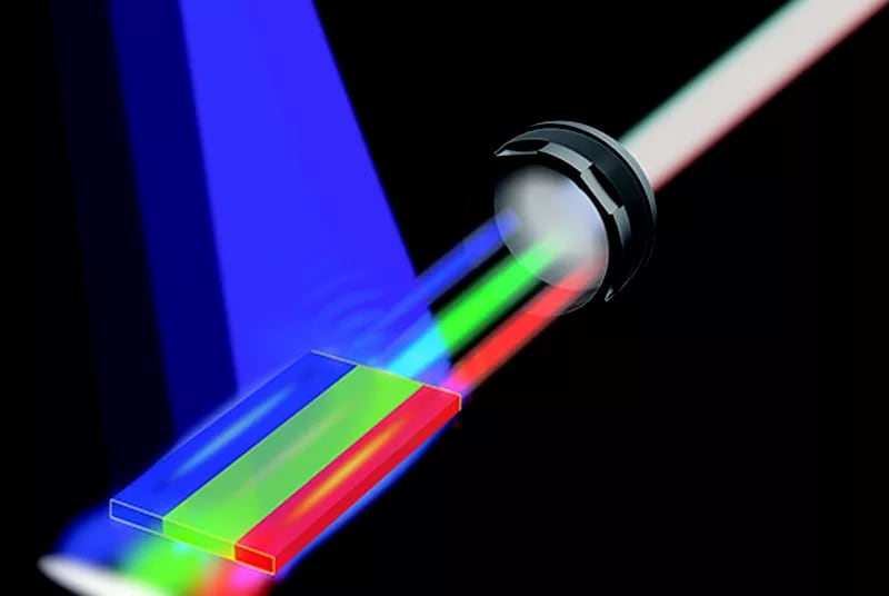 Il primo laser bianco potrebbe rivoluzionare display e connettività