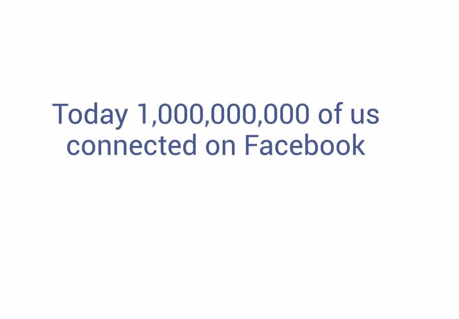 un miliardo su Facebook