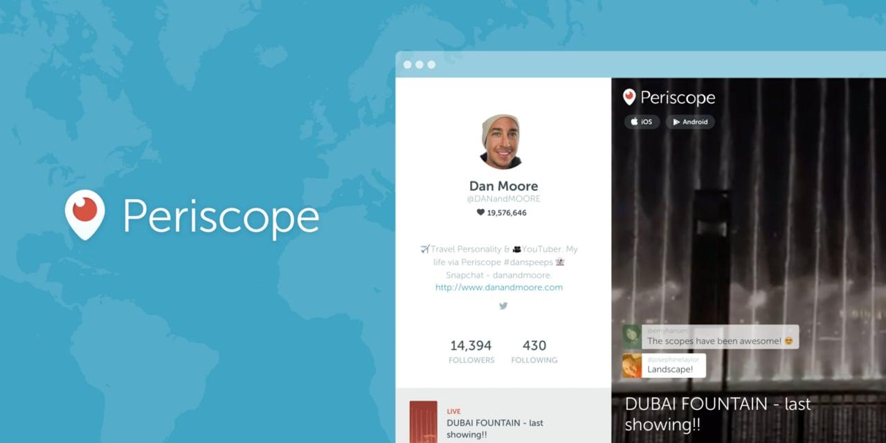Periscope - profili web
