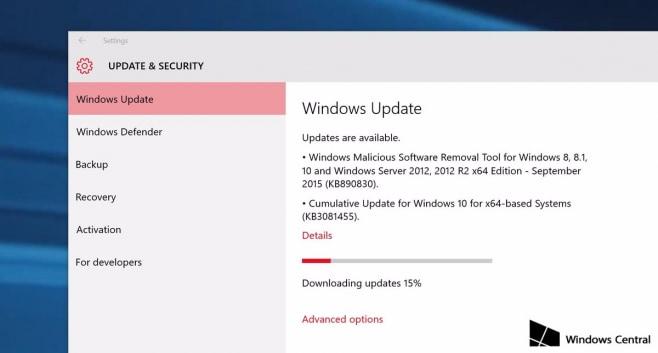 Windows 10- in arrivo il nuovo aggiornamento cumulativo (KB3081455)