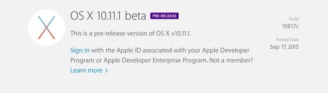 apple os x 10.11.1