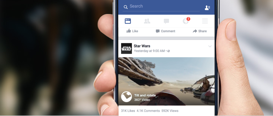 facebook video 360 gradi