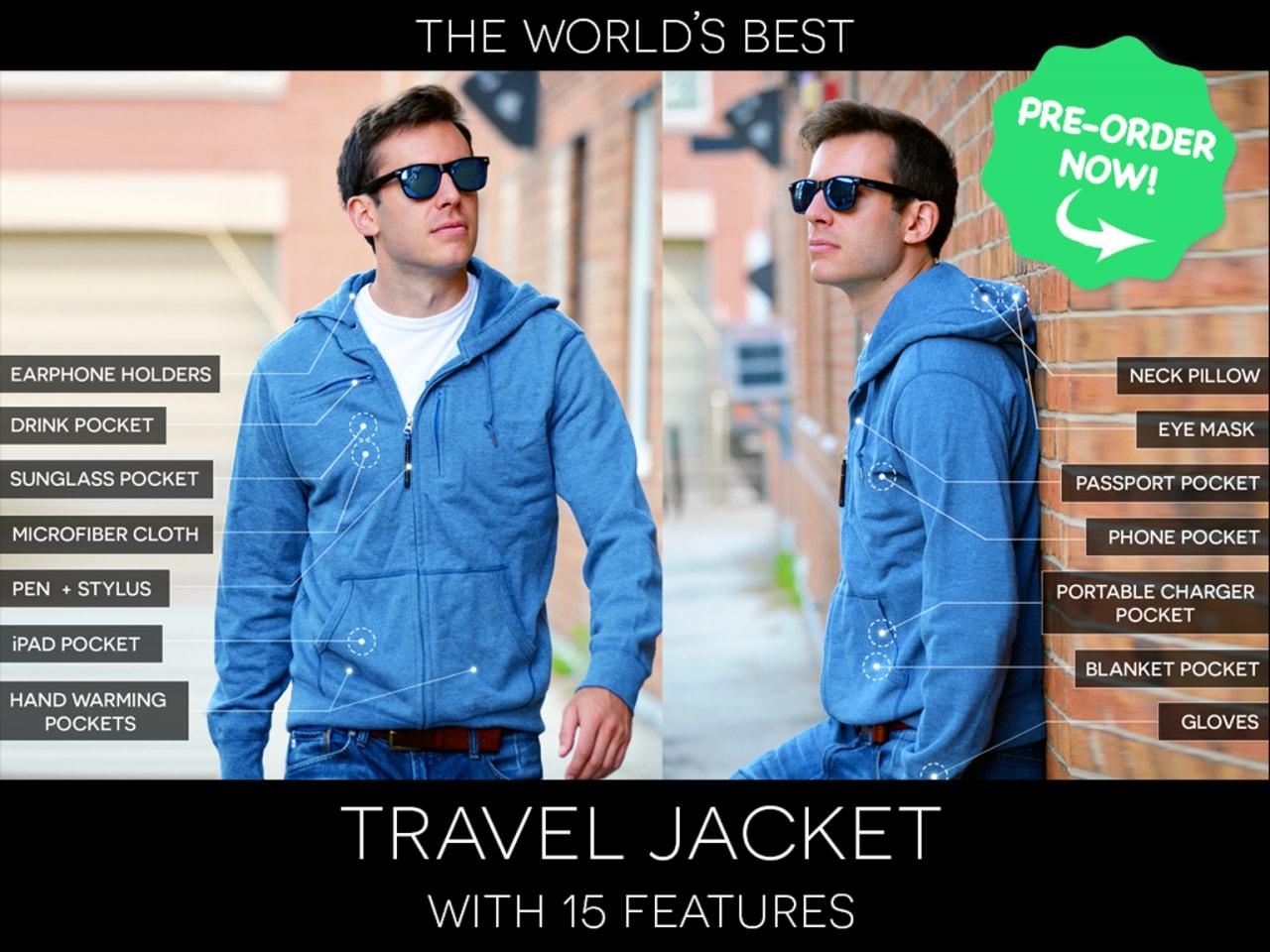 giacca da viaggio kickstarter