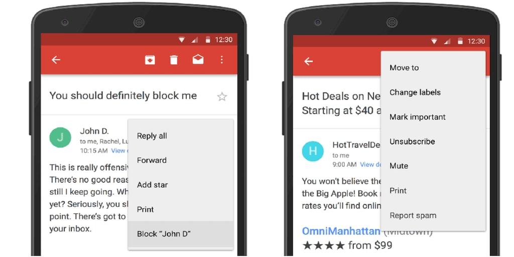 gmail blocca