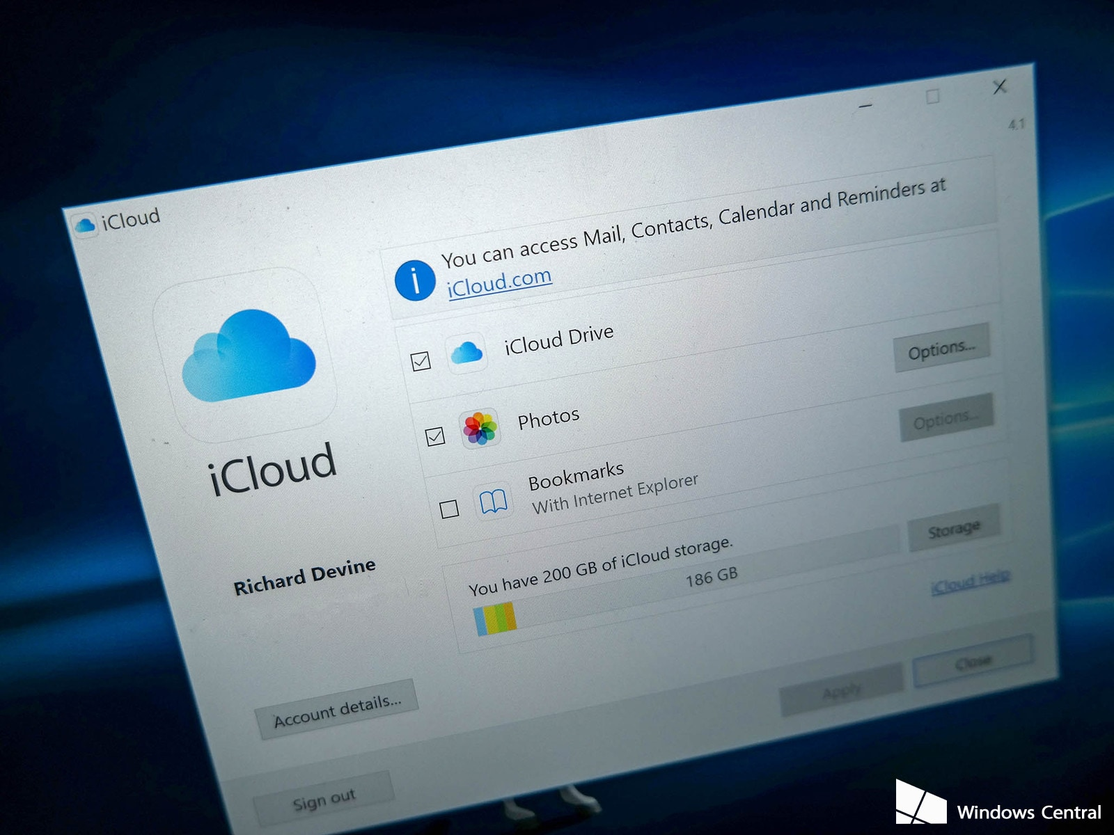 how to add icloud account to microsoft outlook windows 10