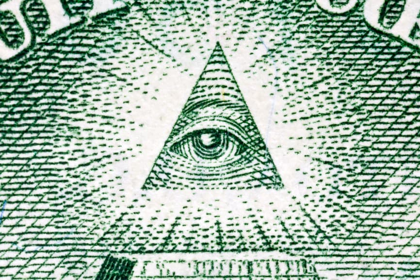 Eye of Providence Macro on the US One Dollar Bill