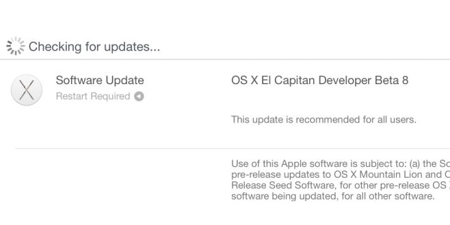 os x el capitan beta 8