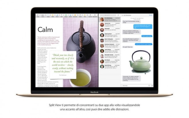 os x el capitan split view