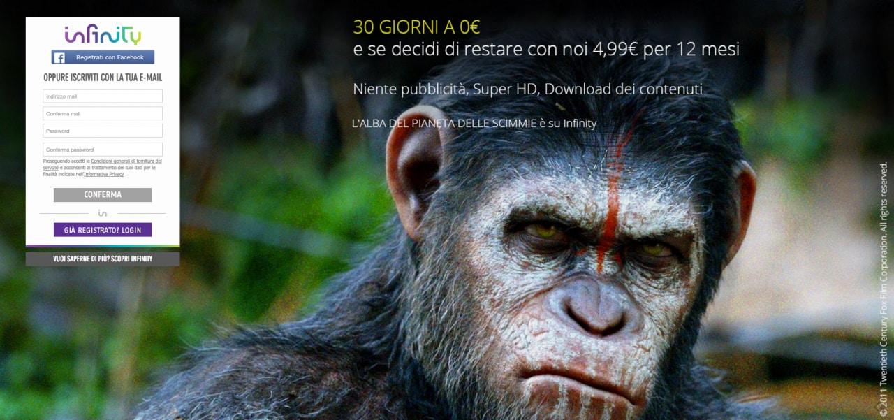 Mediaset Infinity Senza promocode