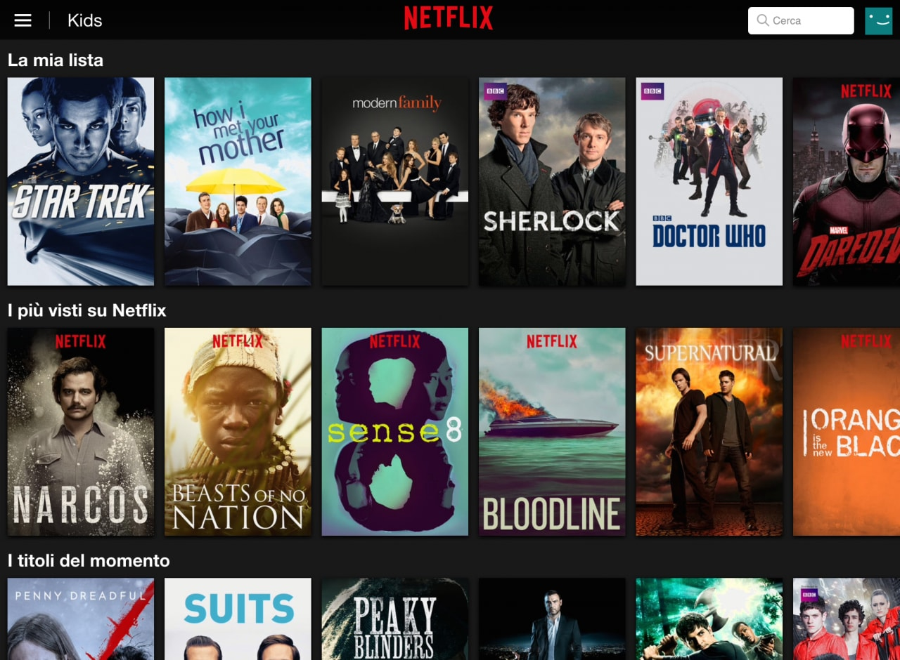 Netflix Italia Catalogo
