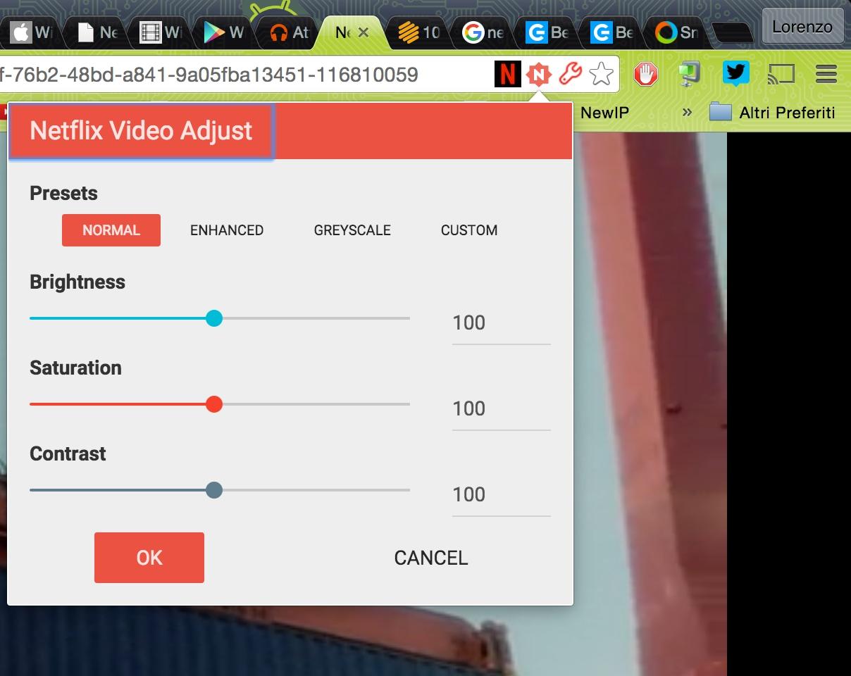 Netflix Video Adjust