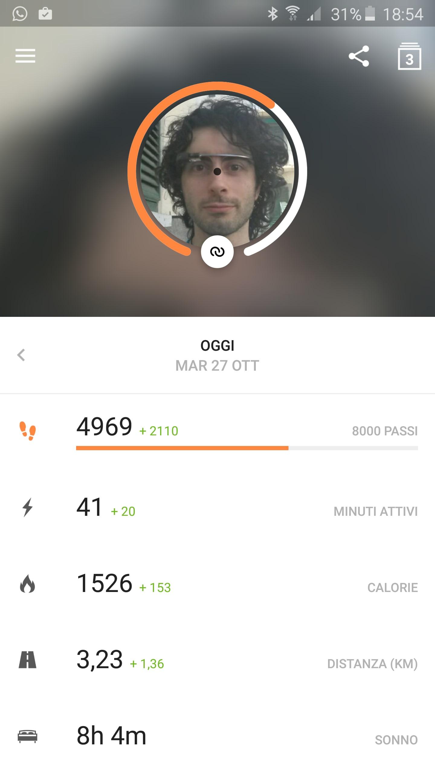 Runtastic Me app screenshot – 1