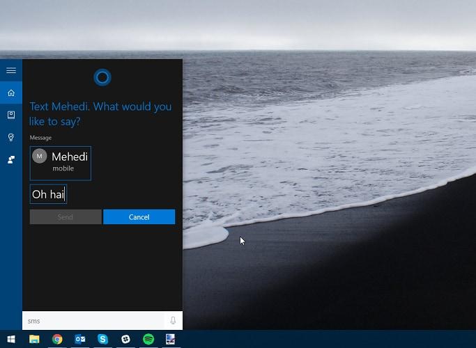 L'invio di SMS arriva su Windows 10 per PC