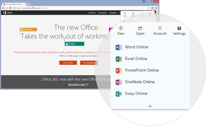 office online estensione chrome