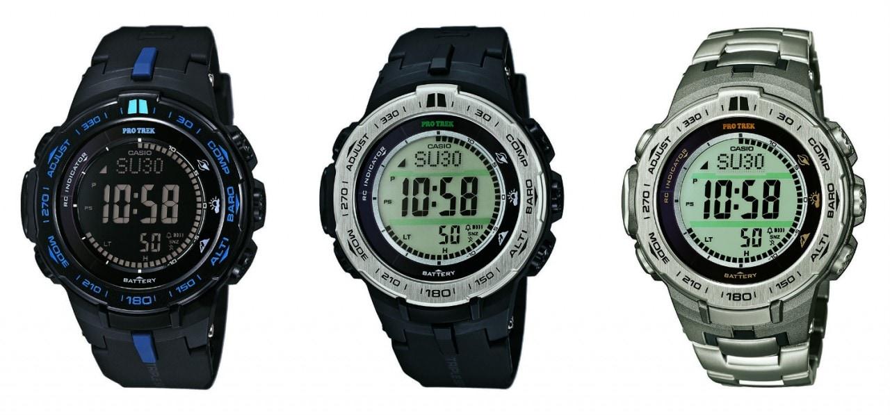 Casio Pro Trek PRW-3100: barometro, altimetro e bussola in 12 mm di spessore
