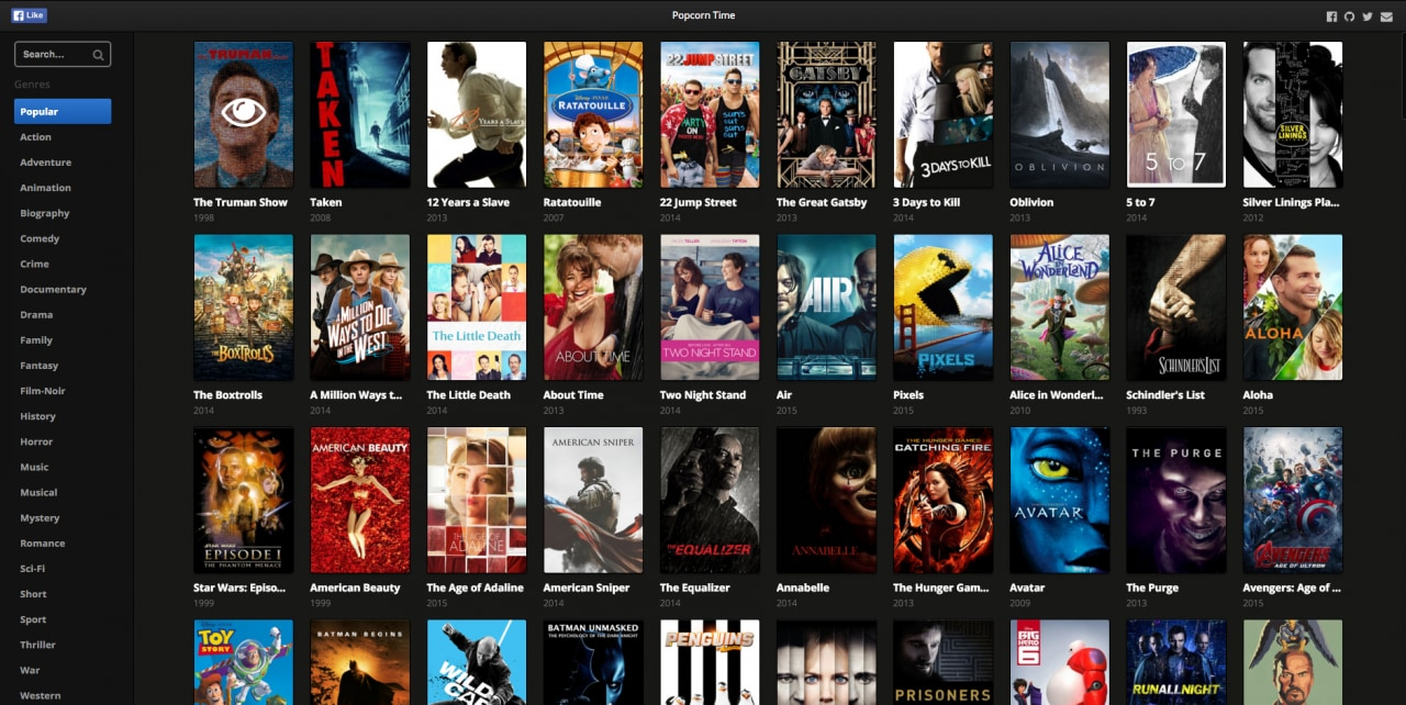 popcorn time da browser
