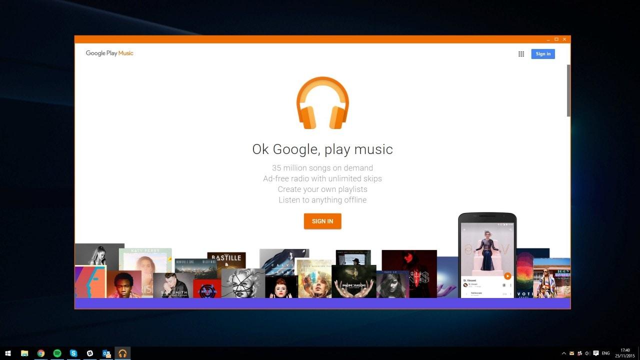 Google Play Music - Windows app non ufficiale