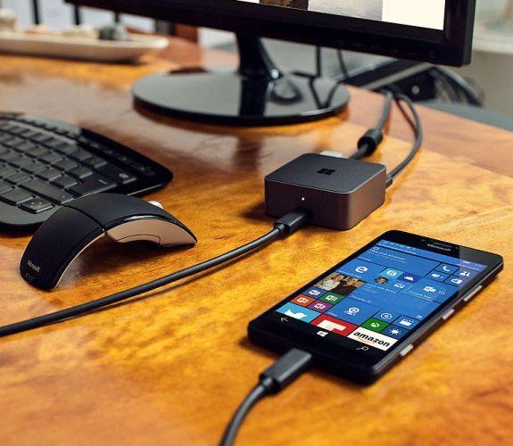 Lumia Windows 10 dock continuum