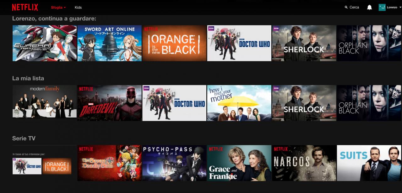Netflix Catalogo Novembre