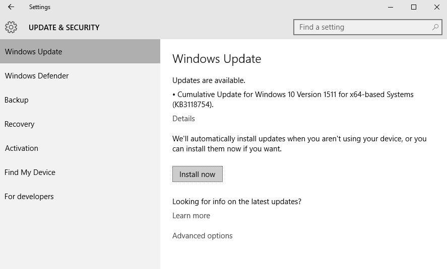 Microsoft rilascia un aggiornamento cumulativo per Windows 10 versione 1151