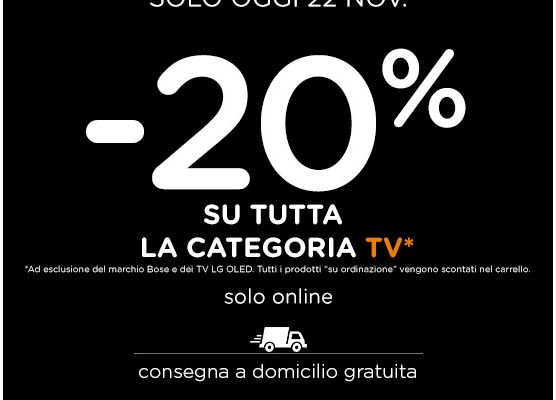 black fridays unieuro tv