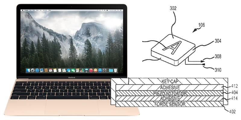 brevetto tastiera force touch