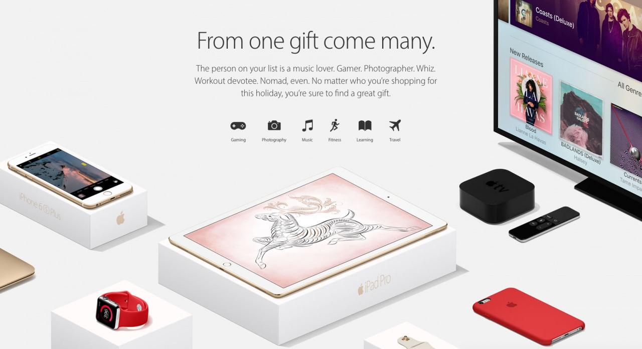 Cosa regalare per Natale? Apple ovviamente vi consiglia i suoi prodotti