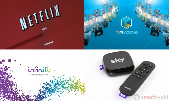 Confronto Netflix Infinity Sky Online TIMvision