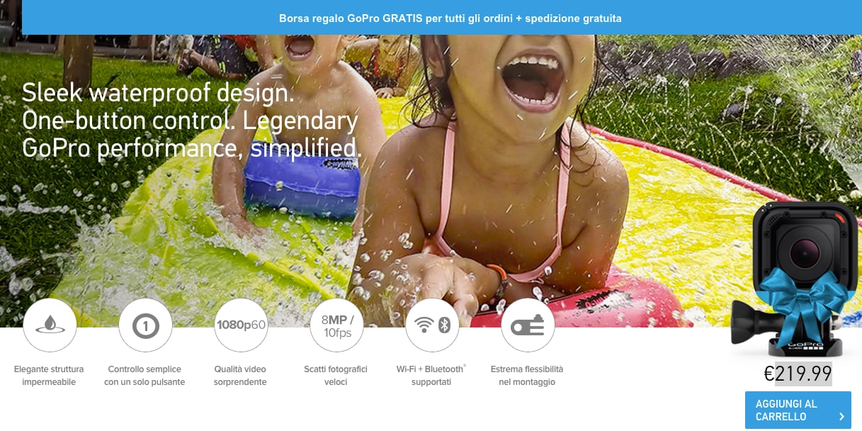 GoPro si accorge di aver sbagliato il prezzo di HERO4 Session, e lo abbassa a 219€