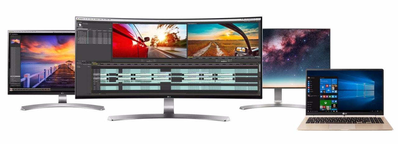 """LG si prepara al 2016 con nuovi monitor e un leggerissimo portatile da 15,6"""" (foto)"""