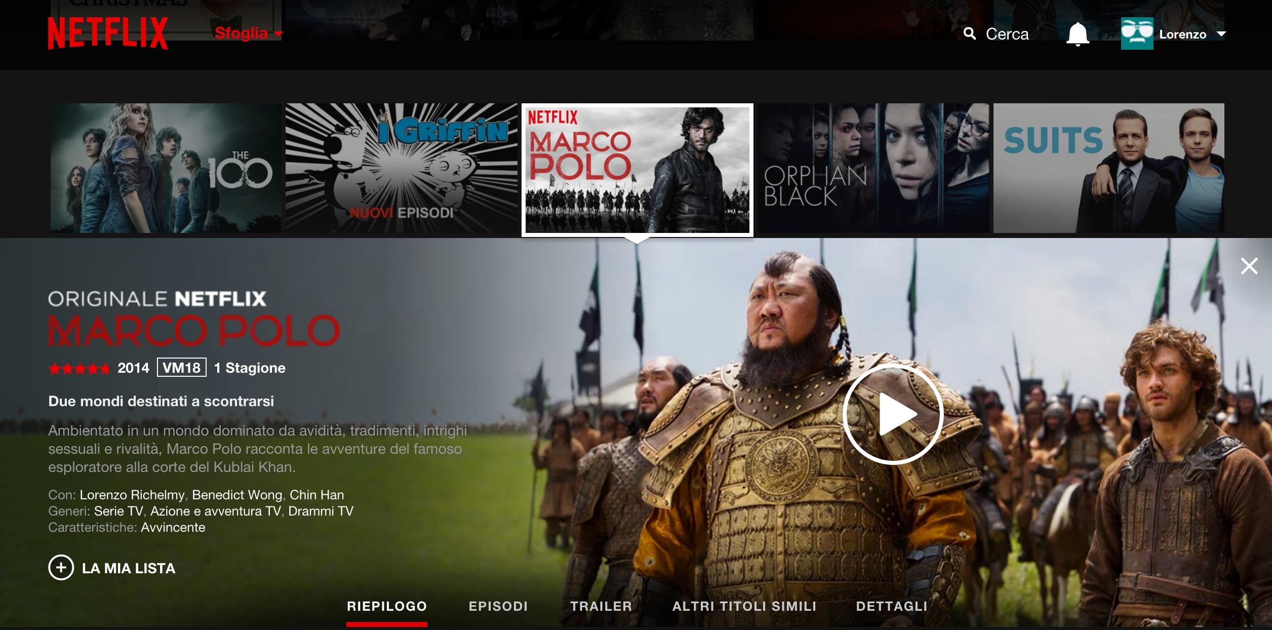 Netflix confronto – 1