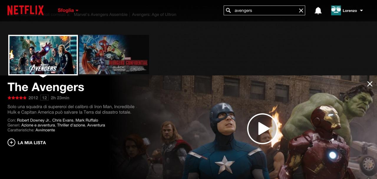 The Avengers Netflix Italia
