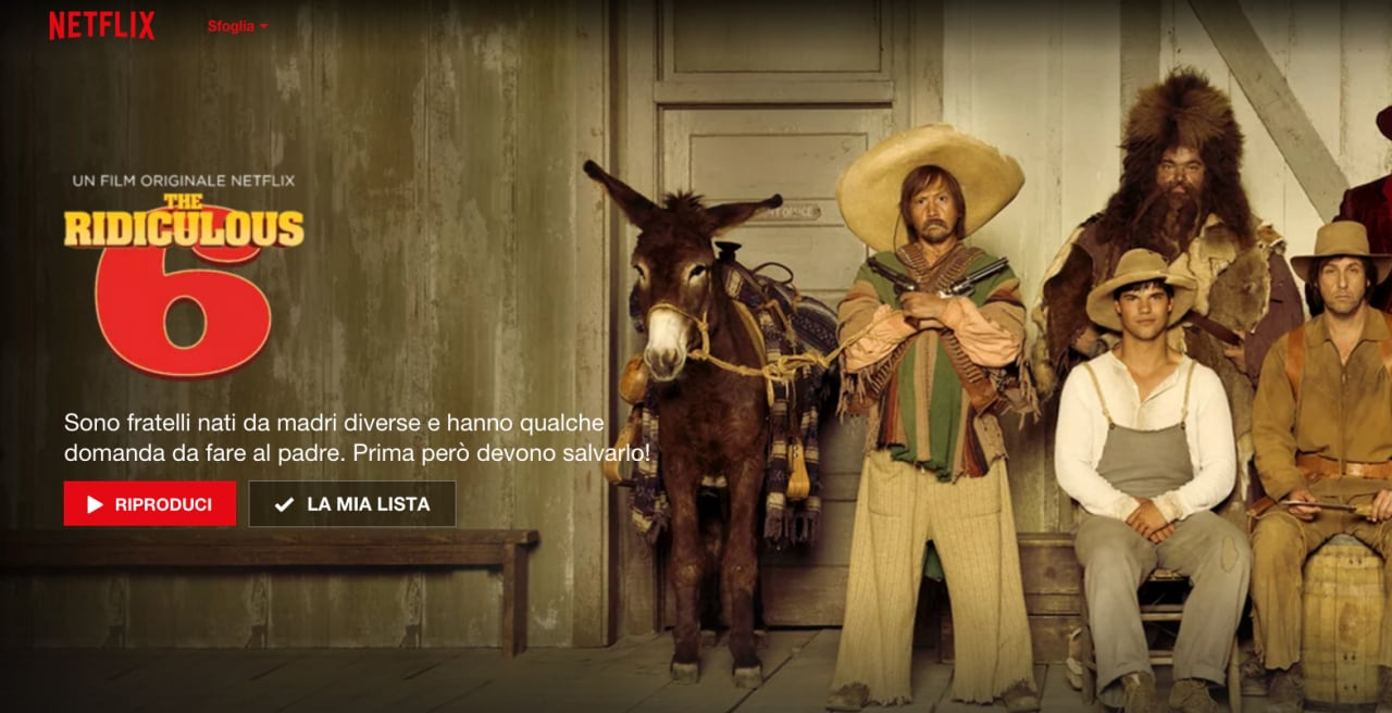 The Ridiculous 6 disponibile