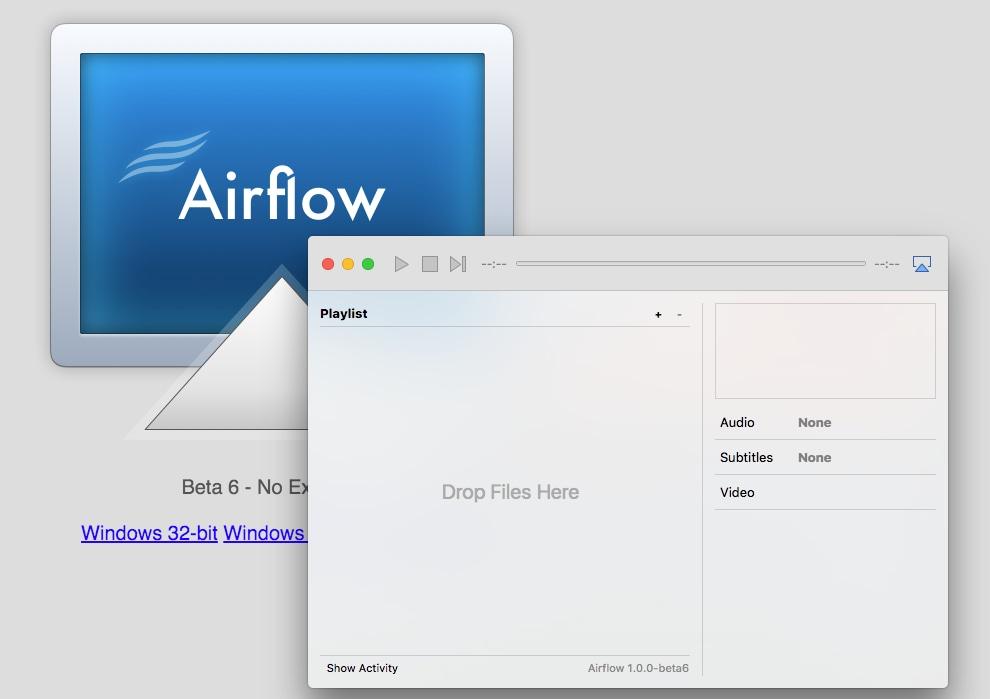 airflow player chromecast apple tv